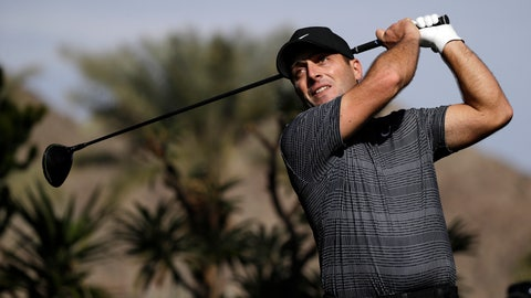 <p>               Francesco Molinari hits from the sixth tee during the first round of the American Express golf tournament at La Quinta Country Club on Thursday, Jan. 16, 2020, in La Quinta, Calif. (AP Photo/Marcio Jose Sanchez)             </p>
