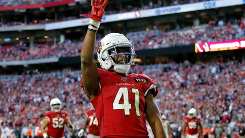 <p>               FILE - In this Dec. 15, 2019, file photo, Arizona Cardinals running back Kenyan Drake (41) motions after his fourth touchdown of the game during the second half of an NFL football game against the Cleveland Browns in Glendale, Ariz. Drake's agency said Saturday, March 21, 2020, that he will sign his one-year, $8.5 million tender to stay with the Cardinals. The Cardinals placed the transition tag on Drake earlier this week. (AP Photo/Ross D. Franklin, File)             </p>