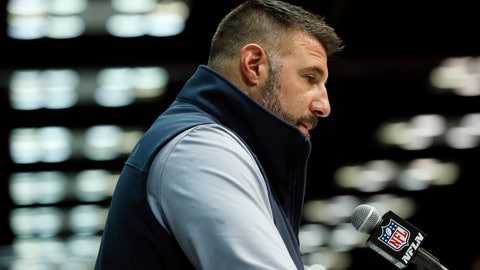 <p>               Tennessee Titans head coach Mike Vrabel speaks during a press conference at the NFL football scouting combine in Indianapolis, Tuesday, Feb. 25, 2020. (AP Photo/Charlie Neibergall)             </p>