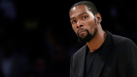 <p>               FILE- In this March 10, 2020, file photo, Brooklyn Nets' Kevin Durant watches during the second half of the team's NBA basketball game against the Los Angeles Lakers in Los Angeles. Durant is among the four Brooklyn Nets who have tested positive for the new coronavirus.  A backlash roiled across social media Wednesday, March 18, as several celebrities and professional athletes revealed that they had been tested for the coronavirus, even when they didn't have a fever or other tell-tale symptoms. (AP Photo/Marcio Jose Sanchez, file)             </p>
