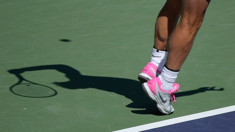 <p>               FIEL - In this March 12, 2019, file photo, Rafael Nadal, of Spain, casts a shadow as he serves to Diego Schwartzman at the BNP Paribas Open tennis tournament in Indian Wells, Calif. The ATP called off all men's professional tennis tournaments for six weeks because of the COVID-19 pandemic, but a WTA spokeswoman told The Associated Press on Thursday, March 12, 2020, that the women's tour was not immediately prepared to do the same. (AP Photo/Mark J. Terrill, File)             </p>