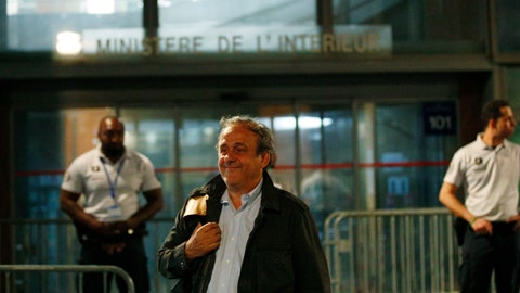 <p>               FILE - In this file photo dated Wednesday, June 19, 2019, Michel Platini leaves the French police anti-corruption and financial crimes office in Nanterre, outside Paris. Platini has lost his appeal at the European Court of Human Rights to overturn a four-year ban from soccer for financial wrongdoing taking a dollars 2 million payment from FIFA, according to a unanimous ruling published Thursday March 5, 2020, by the court in Strasbourg, France. (AP Photo/ Francois Mori, FILE)             </p>