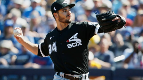 <p>               Chicago White Sox's Dylan Cease (84) pitches in the third inning of a spring training baseball game against the Milwaukee Brewers, Wednesday, March 4, 2020, in Phoenix, Ariz. (AP Photo/Sue Ogrocki)             </p>
