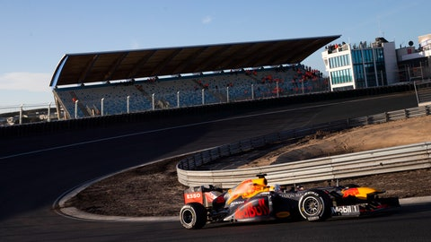 <p>               - FILE - In this Wednesday, March 4, 2020, file image, F1 driver Max Verstappen of The Netherlands drives his car through one of the two banked corners during a test and official presentation of the renovated F1 track in the beachside resort of Zandvoort, western Netherlands. The iconic Monaco Grand Prix was added Thursday to a growing list of Formula One races to be postponed because of the coronavirus outbreak. The first seven races of the Formula One season have now been postponed, with Netherlands and Spain joining Monaco as the latest to be called off. For most people, the new coronavirus causes only mild or moderate symptoms, such as fever and cough. For some, especially older adults and people with existing health problems, it can cause more severe illness, including pneumonia. (AP Photo/Peter Dejong, File)             </p>
