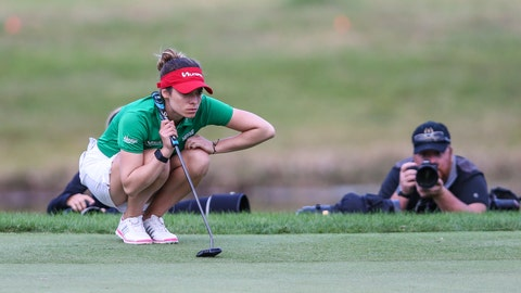 <p>               In this Sunday, Jan. 19, 2020 photo, Gaby Lopez looks over the green before her putt during a playoff in the Tournament of Champions LPGA golf tournament in Lake Buena Vista, Fla. Lopez ran in a 30-foot putt for birdie Monday, Jan. 20, 2020, to defeat Nasa Hataoka in a seven-hole playoff that took an extra day to finish after play was halted Sunday because of darkness. (AP Photo/Gary McCullough, File)             </p>