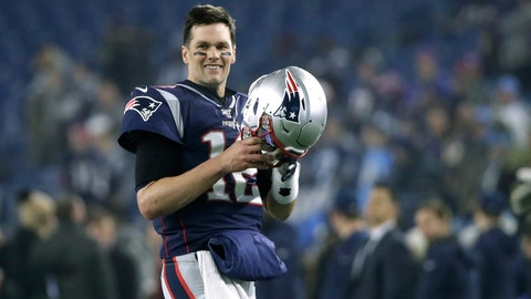 <p>               FILE - In this Jan. 4, 2020, file photo, New England Patriots quarterback Tom Brady warms up before an NFL wild-card playoff football game against the Tennessee Titans in Foxborough, Mass. Tom Brady is an NFL free agent for the first time in his career.  The 42-year-old quarterback with six Super Bowl rings  said Tuesday morning, March 17, 2020, that he is leaving the New England Patriots. (AP Photo/Elise Amendola, FIle)             </p>