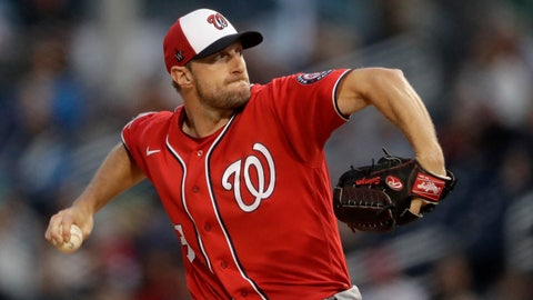 <p>               Washington Nationals starting pitcher Max Scherzer (31) works against the Houston Astros during spring training baseball game Saturday, Feb. 22, 2020, in West Palm Beach, Fla. (AP Photo/John Bazemore)             </p>