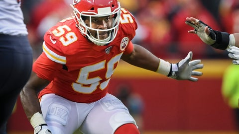 <p>               FLE - In this Jan. 12, 2020, file photo, Kansas City Chiefs inside linebacker Reggie Ragland (59) plays against the Houston Texans during the second half of an NFL football game in Kansas City, Mo. The Detroit Lions have agreed to a contract with linebacker Reggie Ragland, according to a person with knowledge of the deal. The person spoke on condition of anonymity to The Associated Press on Friday, March 27, 2020, because the deal had not been announced.  (AP Photo/Reed Hoffmann, File)             </p>