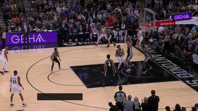 WATCH: Patty Mills drains a last second 3 against the Trail Blazers | Spurs ENCORE