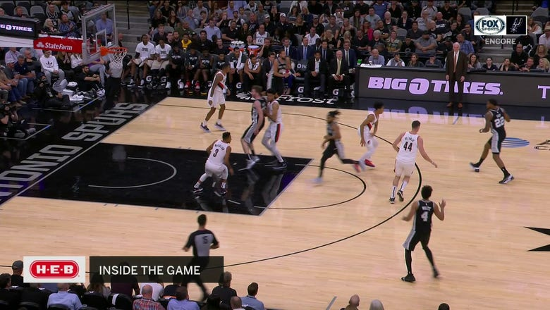 WATCH: Derrick White takes one to the hole against the Trail Blazers | Spurs ENCORE
