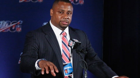 """<p>               FILE - In this May 22, 2019, file photo, NFL vice president Troy Vincent  speaks to the media during an owners meetings in Key Biscayne, Fla. Vincent has sent a letter to several prospects inviting them to participate """"live"""" in the NFL draft in three weeks. The Associated Press on TuesdayMarch 31, 2020, obtained the letter sent by the league's football operations chief to prospective early selections in the draft, which will be held remotely on April 23-25 due to the coronavirus pandemic.  (AP Photo/Brynn Anderson, File)             </p>"""