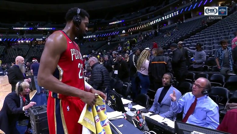 Derrick Favors on the Pelicans Win on Christmas vs. the Nuggets | Pelicans ENCORE