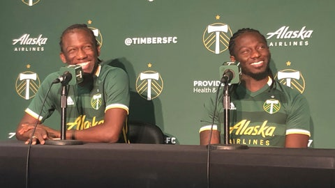 <p>               In this Jan. 22, 2020 photo, Diego Chara, left, and his younger brother Yimmi Chara, right, speak at the Portland Timbers' MLS soccer media day at Providence Park in Portland, Ore. The brothers are playing together for the Portland Timbers this season. (AP Photo/Anne M. Peterson)             </p>
