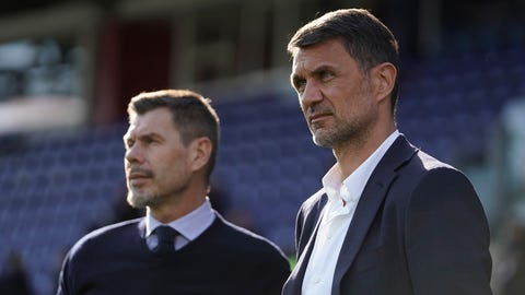 <p>               FILE -- In this Jan. 11, 2020 file photo, Paolo Maldini, right, and Zvonimir Boban look on during an Italian Serie A soccer match between Cagliari and Milan in Cagliari, Italy. AC Milan announced Saturday that Zvonimir Boban, its chief football officer, has been fired. The move comes following an interview that Boban gave to the Gazzetta dello Sport in which he questioned the direction of the club under the U.S.-based hedge fund Elliott. (Spada/LaPresse via AP)             </p>