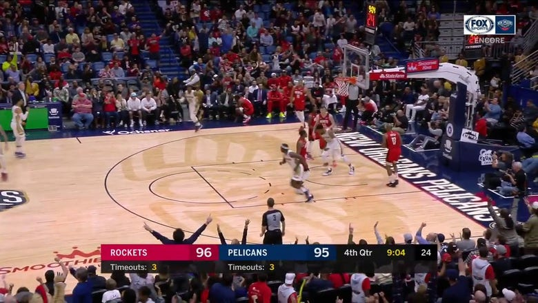 WATCH: Jrue Holiday with the Putback Slam against Houston | Pelicans ENCORE