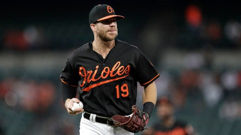 <p>               FILE - In this Sept. 20, 2019, file photo, Baltimore Orioles first baseman Chris Davis warms up during the first inning of a baseball game against the Seattle Mariners in Baltimore. Following three straight frustrating seasons that led him to consider retirement, Davis was in the midst of an outstanding spring training when Major League baseball screeched to a halt because of the deadly coronavirus. Now, as he strives to find ways to keep his three daughters amused while confined to his house. Davis remains confident that he's poised to return to the form he displayed in 2015. (AP Photo/Julio Cortez, File)             </p>
