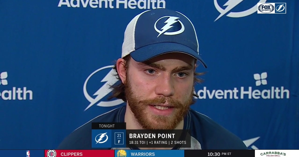 Brayden Point talks after Lightning loss about his performance, team's slow start (VIDEO)