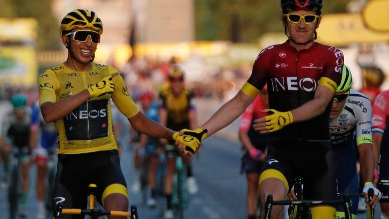 Tour champ Bernal's team stops racing amid virus outbreak