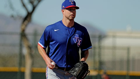 <p>               Texas Rangers pitcher Corey Kluber participates in a drill during spring training baseball practice Friday, Feb. 14, 2020, in Surprise, Ariz. (AP Photo/Charlie Riedel)             </p>