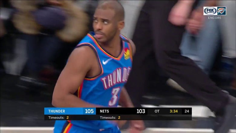 WATCH: CP3 Makes a Tough Shot in Overtime vs. Brooklyn | Thunder ENCORE