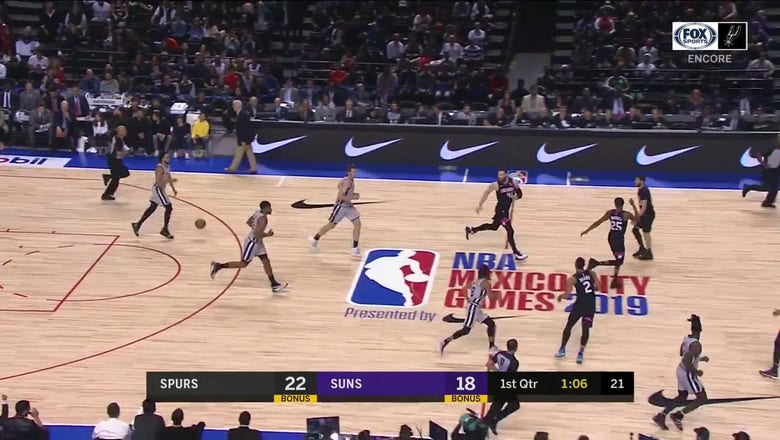 WATCH: Lonnie Walker hits From the Outside | Spurs ENCORE