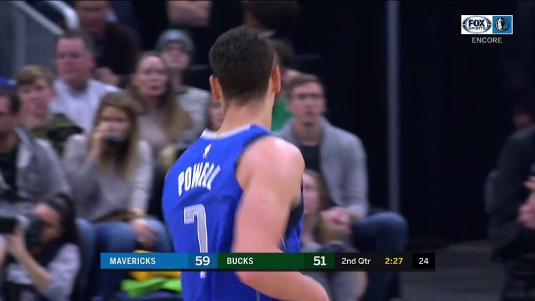 WATCH: Dwight Powell Recovers the Ball, Goes up for 2 | Mavs ENCORE