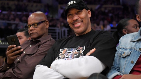 <p>               LaVar Ball watches the second half of an NBA basketball game between the Los Angeles Lakers and the New Orleans Pelicans on Friday, Jan. 3, 2020, in Los Angeles. The Lakers won 123-113. (AP Photo/Mark J. Terrill)             </p>