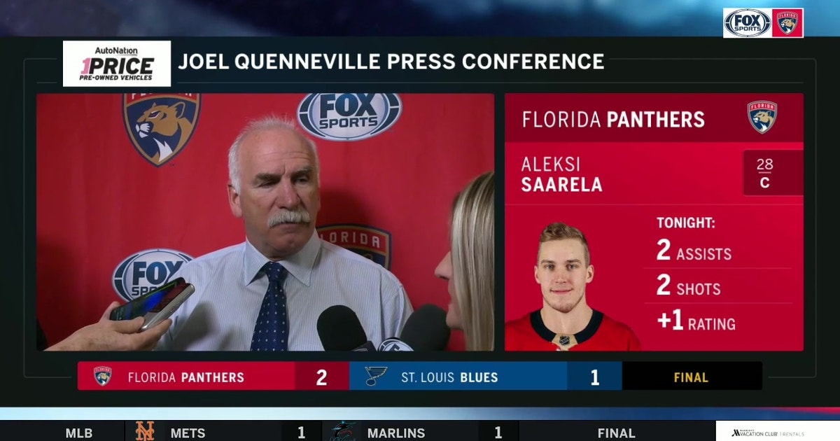 Coach Q talks play of netminder Chris Driedger, topping defending champ Blues on the road (VIDEO)