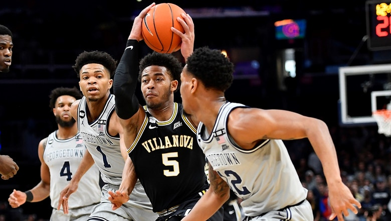No. 14 Villanova stuns Georgetown in final seconds, stay alive in Big East hunt