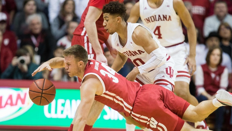Wisconsin clinches share of Big Ten title with narrow victory over Indiana, 60-56