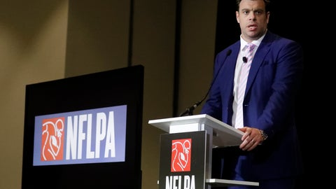 <p>               Eric Winston, president of the NFL Players Association, speaks at the annual state of the NFLPA press conference, Thursday, Jan. 30, 2020, in Miami Beach, Fla. The San Francisco 49ers will face the Kansas City Chiefs in the NFL Super Bowl 54 football game Sunday. (AP Photo/Chris Carlson)             </p>