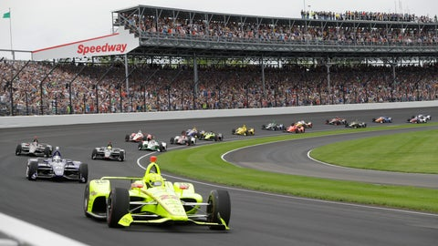<p>               FILE - In this May 26, 2019, file photo, Simon Pagenaud, of France, leads the field through the first turn on the start of the Indianapolis 500 IndyCar auto race at Indianapolis Motor Speedway, in Indianapolis. The Indianapolis 500 scheduled for May 24 has been postponed until August because of the coronavirus pandemic and won't run on Memorial Day weekend for the first time since 1946.  The race will instead be held Aug. 23. (AP Photo/Darron Cummings, File)             </p>