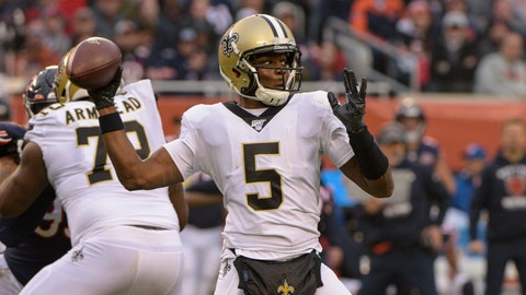 <p>               FILE - In this Sunday, Oct. 20, 2019 file photo, New Orleans Saints quarterback Teddy Bridgewater (5) throws against the Chicago Bears during the first half of an NFL football game in Chicago. The Carolina Panthers have worked out a deal with Teddy Bridgewater to replace quarterback Cam Newton. A person familiar with the deal says Bridgewater is taking a three-year, $63 million contract after winning all five of his starts for New Orleans last season.(AP Photo/Mark Black, File)             </p>