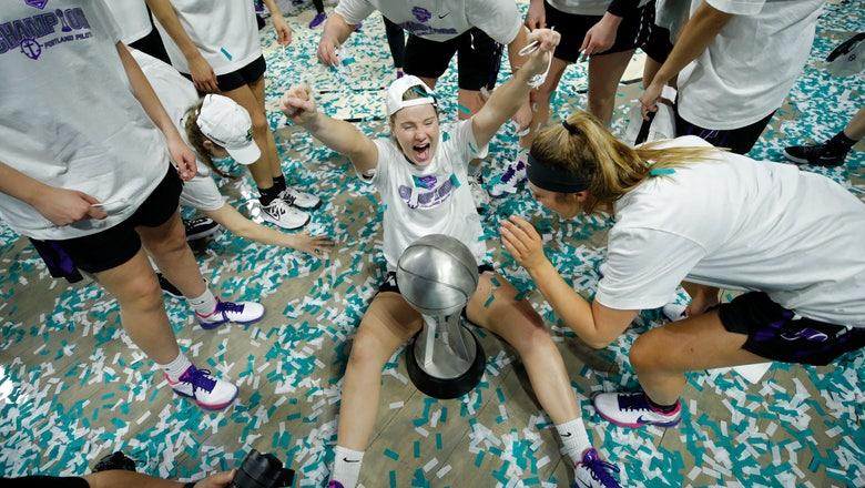 Andrews, Portland women NCAA bound, upset San Diego 64-63