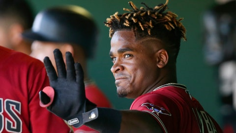 <p>               FILE - In this Feb. 24, 2020, file photo, Arizona Diamondbacks' Domingo Leyba waves to teammates after hitting a three-run home run against the San Francisco Giants during the fourth inning of a spring training baseball game in Scottsdale, Ariz. Leyba was suspended for 80 games on Friday, March 6, 2020, following a positive test under Major League Baseball's drug program. (AP Photo/Ross D. Franklin, File)             </p>