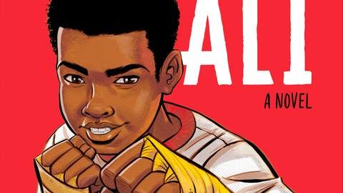 """<p>               This image provided by JIMMY Patterson Books and Houghton Mifflin Harcourt shows the cover of """"Becoming Muhammad Ali,"""" by James Patterson and Kwame Alexander. (JIMMY Patterson Books and Houghton Mifflin Harcourt via AP)             </p>"""