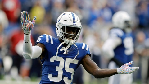 <p>               FILE - In this Sunday, Oct. 20, 2019 file photo, Indianapolis Colts' Pierre Desir (35) reacts during the second half of an NFL football game against the Houston Texans in Indianapolis. Two people with direct knowledge of the contract say the New York Jets and cornerback Pierre Desir have agreed to terms on a deal, Sunday, March 22, 2020. (AP Photo/Darron Cummings, File)             </p>