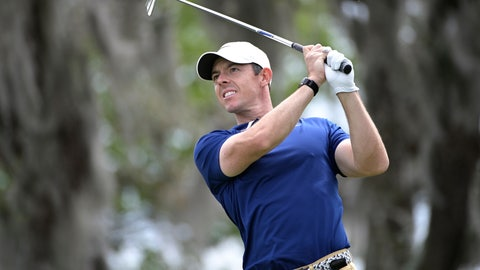 <p>               Rory McIlroy, of Northern Ireland, watches his tee shot on the second hole during the final round of the Arnold Palmer Invitational golf tournament, Sunday, March 8, 2020, in Orlando, Fla. (AP Photo/Phelan M. Ebenhack)             </p>