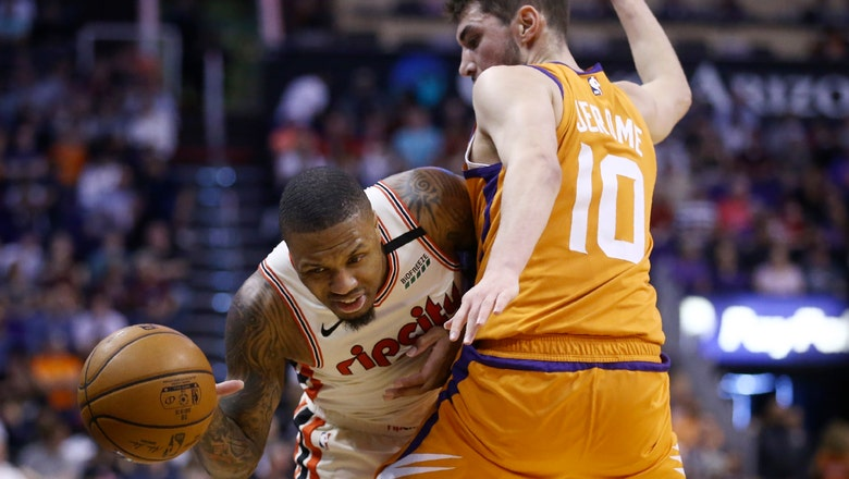 Baynes has career-high 37 points, Suns top Blazers 127-117