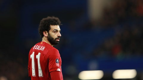 <p>               Liverpool's Mohamed Salah reacts during the English FA Cup fifth round soccer match between Chelsea and Liverpool at Stamford Bridge stadium in London Tuesday, March 3, 2020. (AP Photo/Ian Walton)             </p>