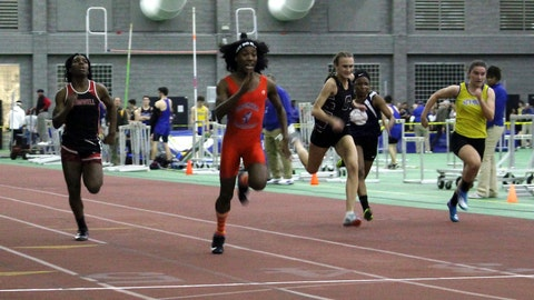 <p>               FILE - In this Feb. 7, 2019 file photo, Bloomfield High School transgender athlete Terry Miller, second from left, wins the final of the 55-meter dash over transgender athlete Andraya Yearwood, far left, and other runners in the Connecticut girls Class S indoor track meet at Hillhouse High School in New Haven, Conn. In a response to a lawsuit brought by three female high school runners, the Connecticut Interscholastic Athletic Conference maintains that it is exempt from Title IX, that guarantees equal access to women and girls in education, including athletics. The lawsuit argues that male anatomy gives the transgender runners an unfair advantage in violation of Title IX. (AP Photo/Pat Eaton-Robb, File)             </p>