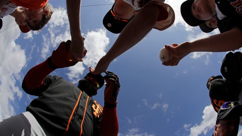 <p>               San Francisco Giants' Pablo Sandoval signs autographs for fans before a spring training baseball game against the Arizona Diamondbacks, Monday, March 2, 2020, in Scottsdale, Ariz.(AP Photo/Darron Cummings)             </p>