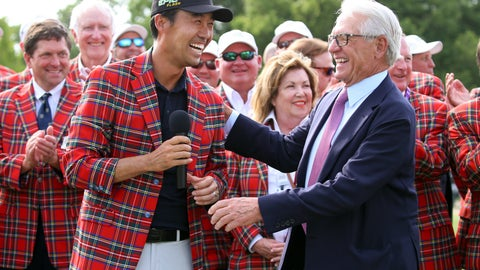 <p>               FILE - In this May 26, 2019, file photo, Kevin Na, front left, is congratulated by Charles Schwab after winning the Charles Schwab Challenge golf tournament in Fort Worth, Texas. The Colonial on May 21-24, 2020, is the next event on the PGA Tour schedule. The tournament is trying to prepare without knowing if the new coronavirus will lead to it being canceled. (AP Photo/Richard W. Rodriguez, File)             </p>