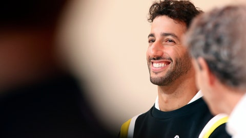 <p>               Renault drivers Daniel Ricciardo of Australia attends a press conference, in Paris, Wednesday, Feb. 12, 2020. (AP Photo/Thibault Camus)             </p>