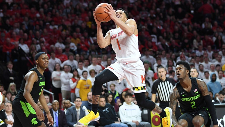 No. 9 Maryland tops No. 25 Michigan for Big Ten title share