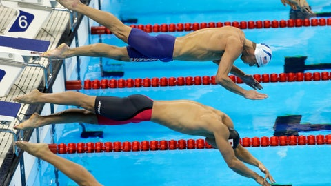 <p>               FILE - In this Wednesday, Aug. 10, 2016 file photo, United States' Michael Phelps, top, and Japan's Hiromasa Fujimori compete in a heat of the men's 200-meter individual medley during the swimming competitions at the 2016 Summer Olympics. Fujimori lost his appeal Friday, March 6, 2020 against a two-year ban for a positive doping test and will miss the Tokyo Olympics. (AP Photo/Matt Slocum, File)             </p>
