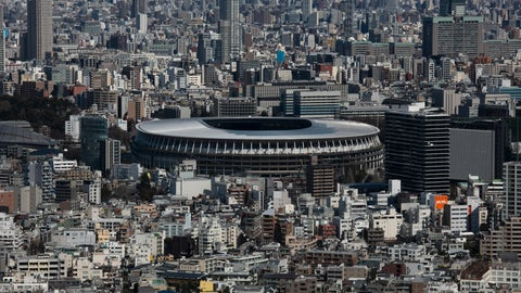 <p>               FILE - In this March 3, 2020, file photo, the New National Stadium, a venue for the opening and closing ceremonies at the Tokyo 2020 Olympics, is seen from Shibuya Sky observation deck in Tokyo. The tentacles of cancelling the Tokyo Olympics — or postponing or staging it in empty venues — would reach into every corner of the globe, much like the spreading virus that now imperils the opening ceremony on July 24. (AP Photo/Jae C. Hong, File)             </p>