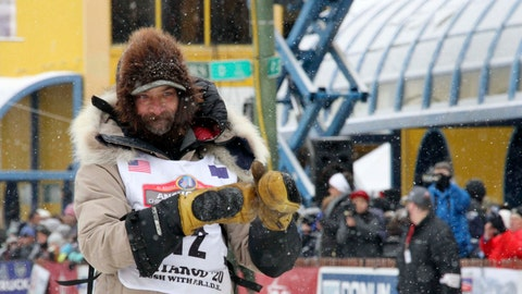 <p>               FILE - In this March 7, 2020 file photo, four-time Iditarod Trail Sled Dog Race champion Lance Mackey is shown before the ceremonial start of the Iditarod Trail Sled Dog Race in Anchorage, Alaska. The Anchorage Daily News reported Wednesday, March 11, 2020, that Mackey is giving his dogs CBD oil, which he says improves their recovery time. The race's head veterinarian, Stuart Nelson asked Mackey not to give CBD oil to his dogs.  Short for cannabidiol, CBD is a non-intoxicating molecule found in hemp and marijuana. (AP Photo/Mark Thiessen, File)             </p>