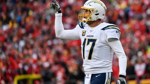 <p>               FILE - In this Dec. 29, 2019, file photo Los Angeles Chargers quarterback Philip Rivers (17) signals to the bench during the first half of an NFL football game against the Kansas City Chiefs in Kansas City, Mo. Rivers' career with the Los Angeles Chargers has come to an end. The franchise announced Monday, Feb. 10, 2020, that Rivers will enter free agency and not return for the upcoming season. (AP Photo/Reed Hoffmann,File)             </p>