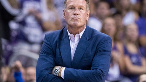 <p>               FILE - In this Dec. 9. 2018, file photo, Grand Canyon coach Dan Majerle watches his team play Nevada during the first half of an NCAA college basketball game in Phoenix. Grand Canyon has fired Majerle after seven seasons. The school announced the former Phoenix Suns star's firing Thursday, March 12, 2020, hours after the Western Athletic Conference and NCAA tournament were canceled due to concerns over the coronavirus. (AP Photo/Darryl Webb, File)             </p>